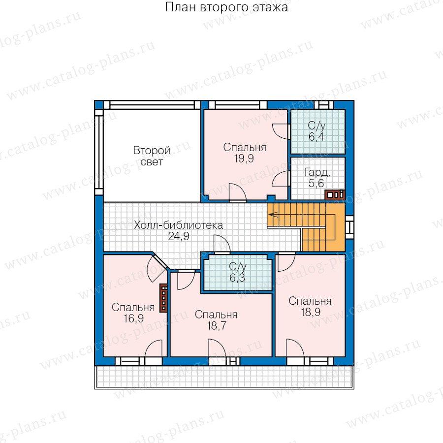 План 2-этажа проекта 60-88