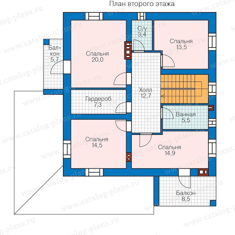 План 2-этажа проекта 40-55