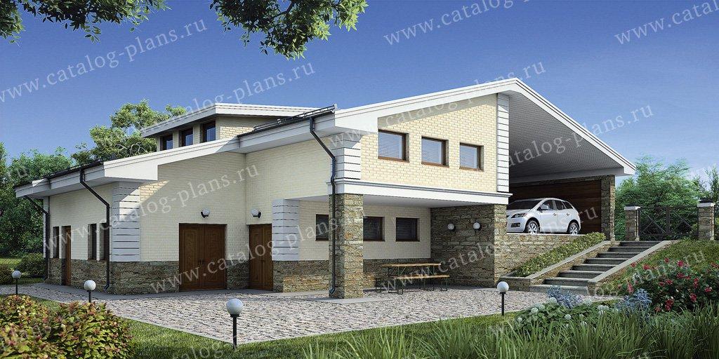 Проект гараж #55-06 материал - газобетон, стиль европейский