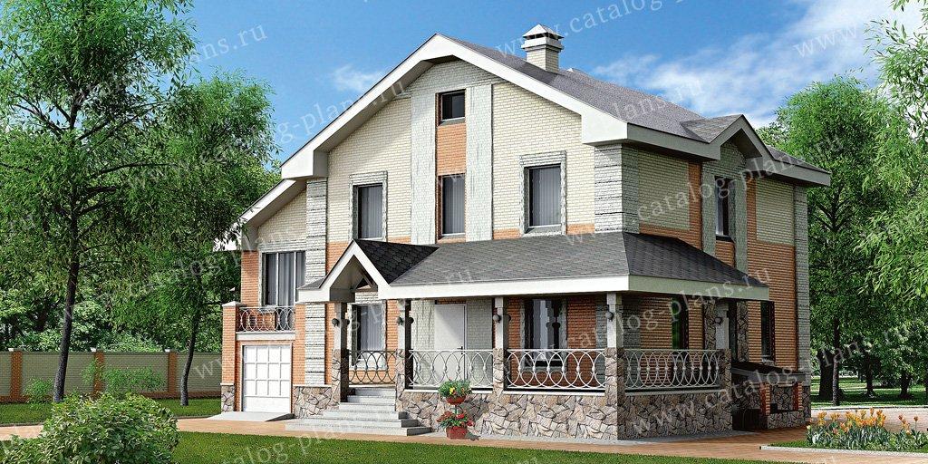Проект жилой дом #51-22 материал - газобетон, стиль американский