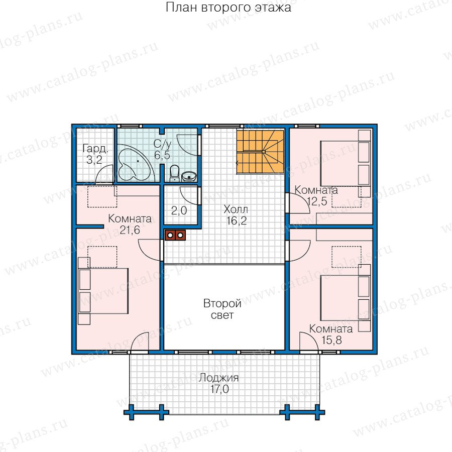 План 2-этажа проекта 13-64