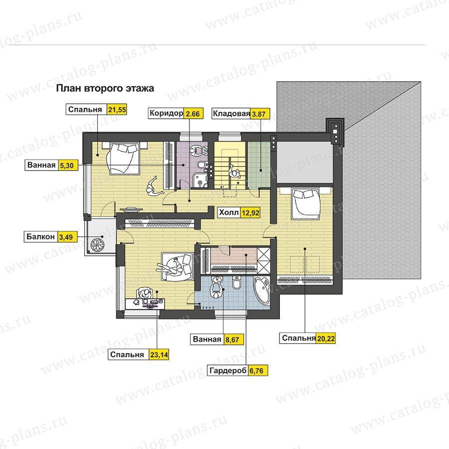 План 2-этажа проекта 47-57