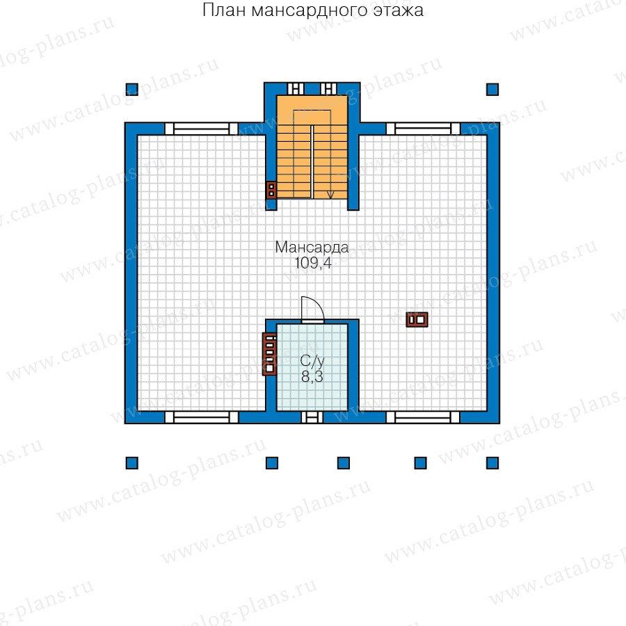 План 3-этажа проекта 57-34A