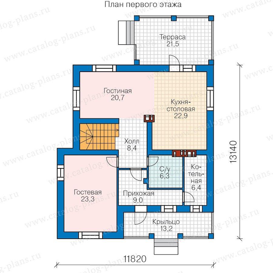 План 1-этажа проекта 40-56