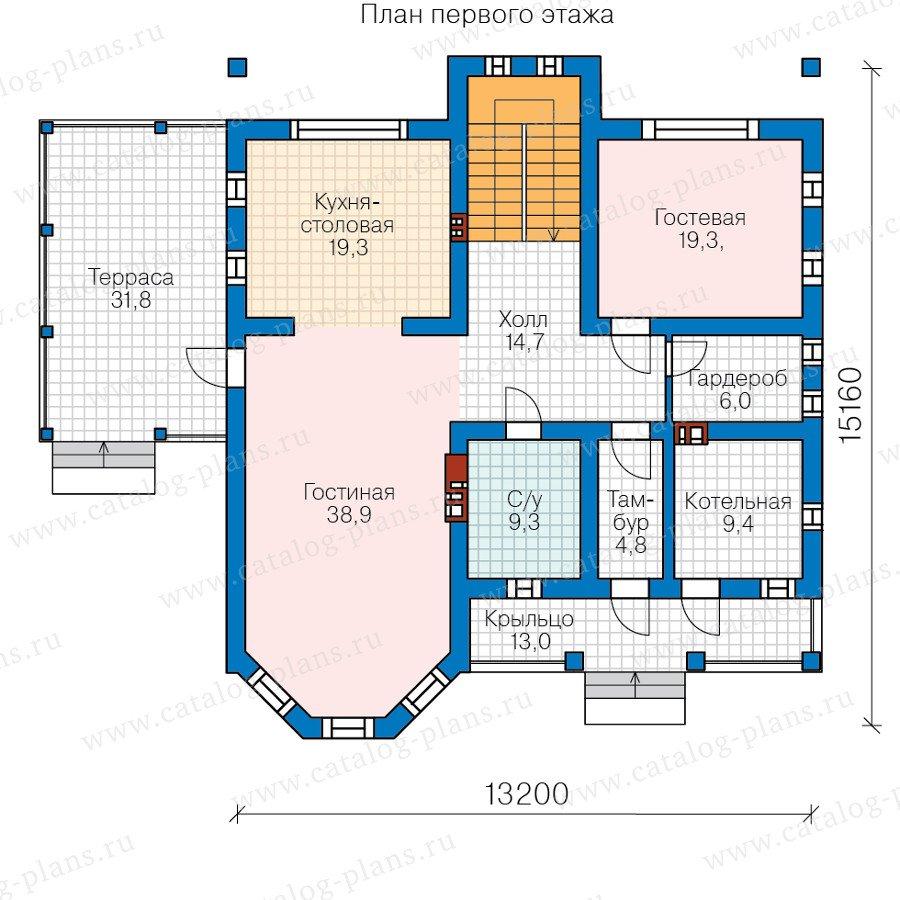 План 1-этажа проекта 57-34A