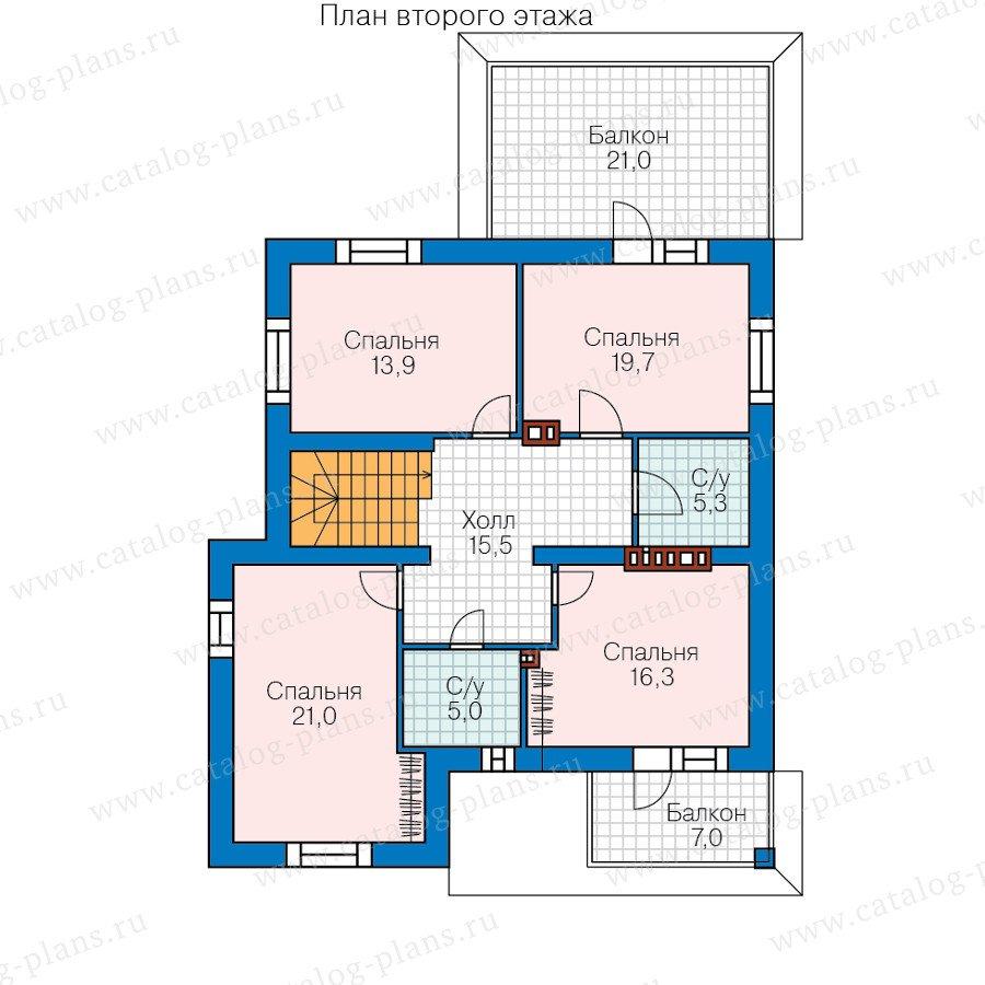 План 2-этажа проекта 40-56