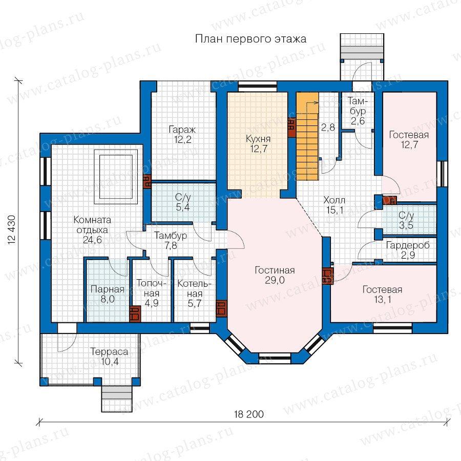 План 1-этажа проекта 40-23L