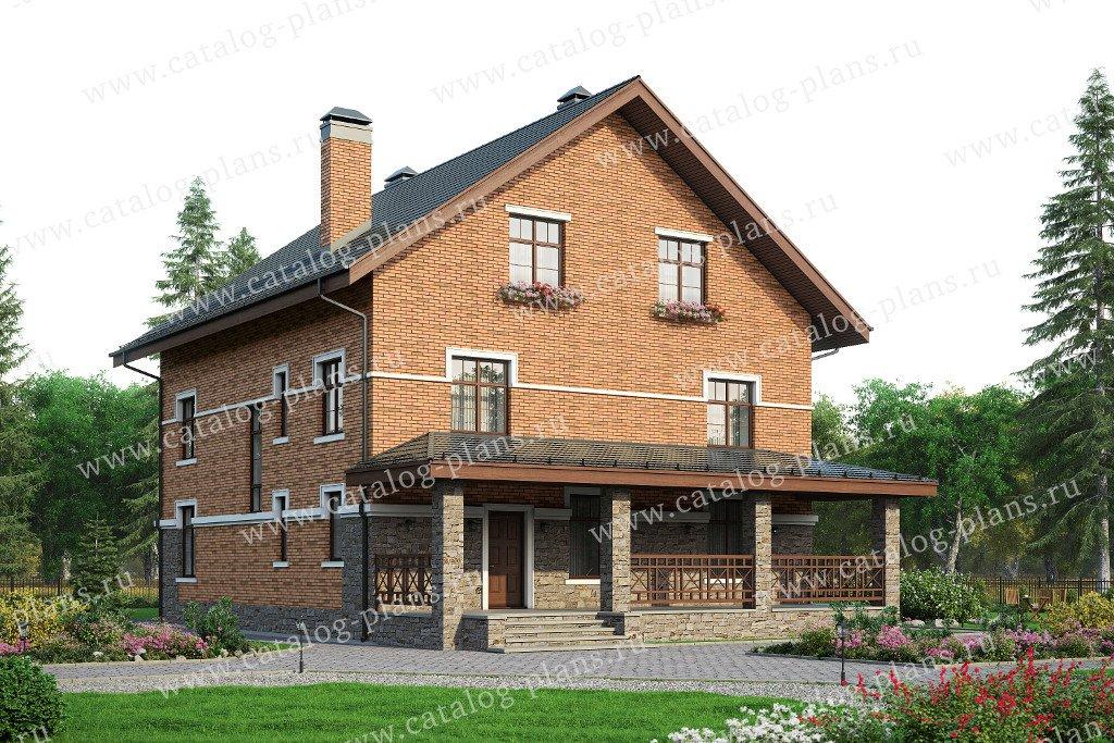Проект жилой дом #57-78 материал - газобетон, стиль европейский