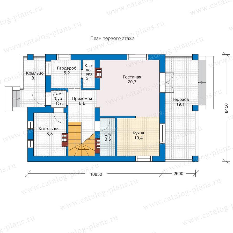 План 1-этажа проекта 57-07L