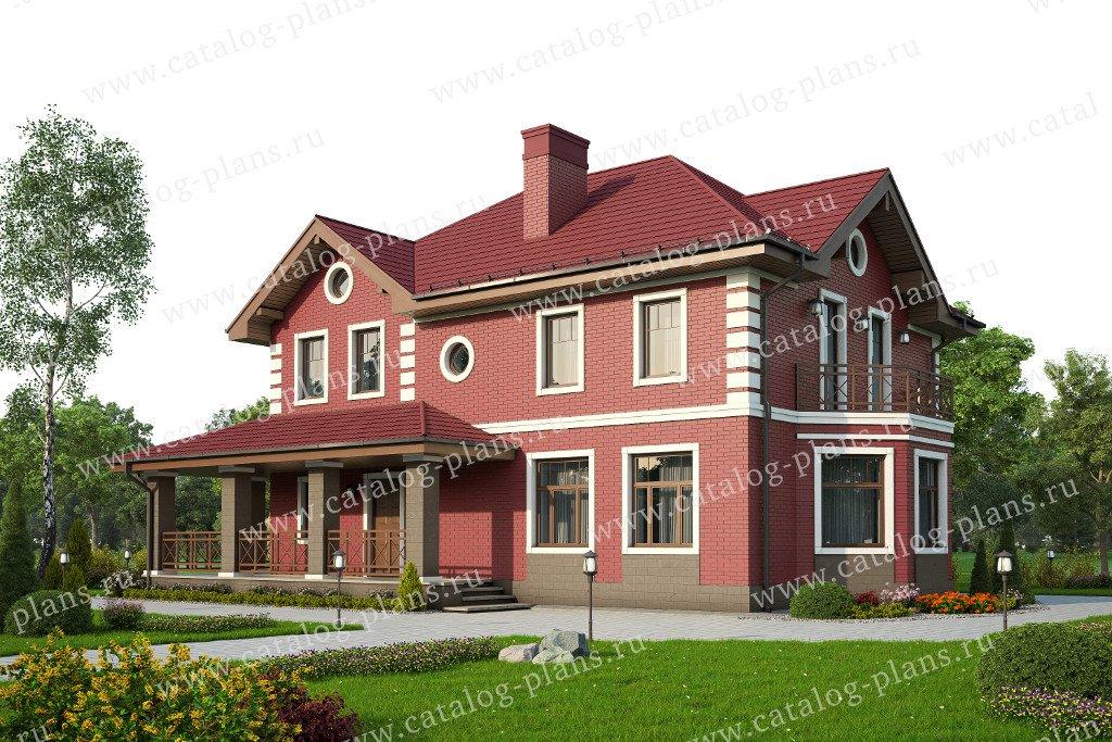 Проект жилой дом #57-29L материал - газобетон, стиль классический