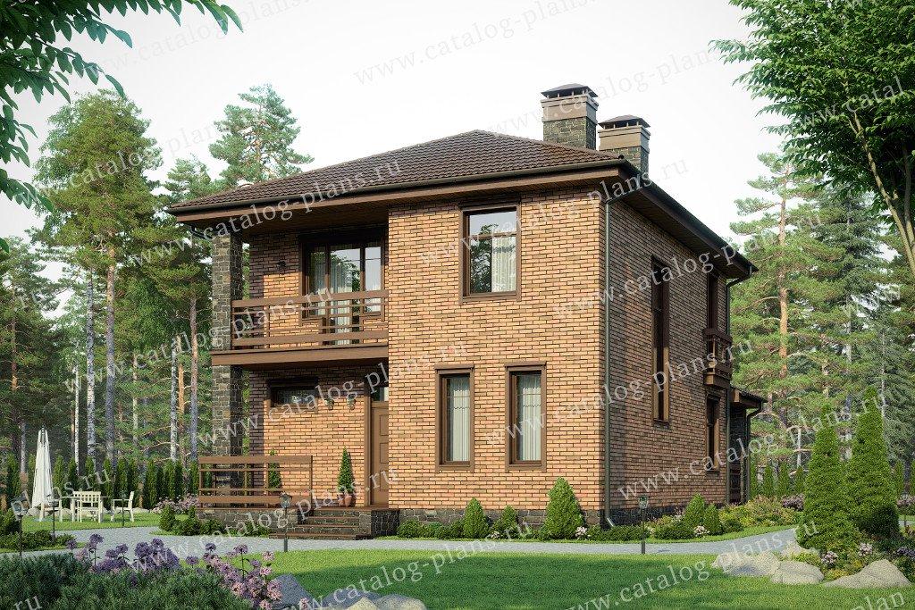 Проект жилой дом #57-07L материал - газобетон, стиль современный