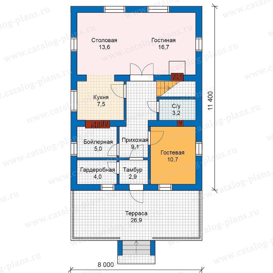 План 1-этажа проекта 59-99L