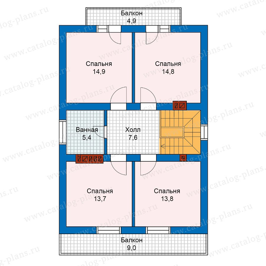 План 2-этажа проекта 59-99L