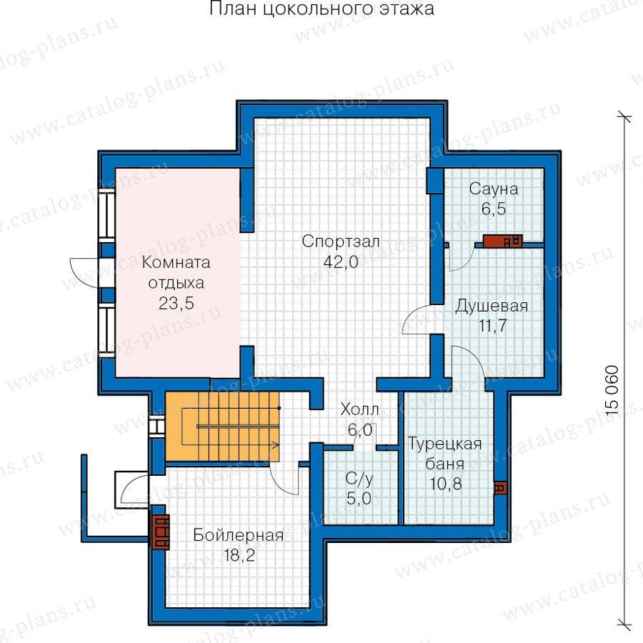 План 1-этажа проекта 59-86L