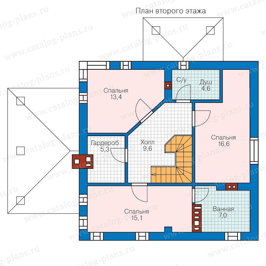 План 2-этажа проекта 59-79AL