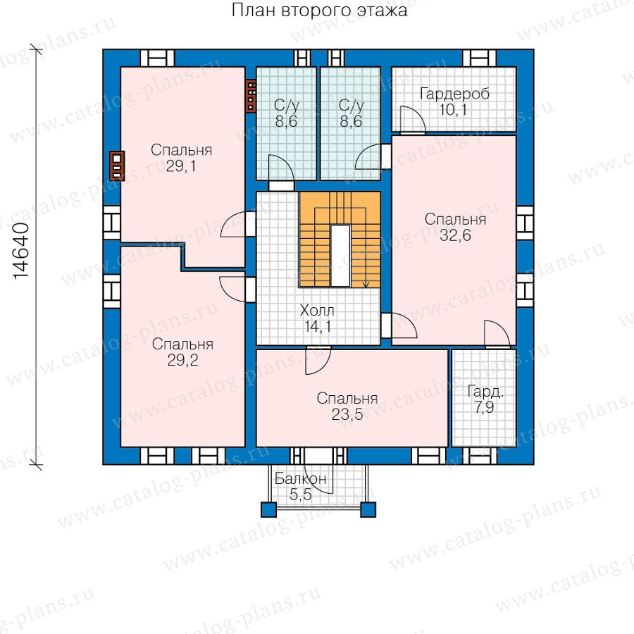 План 3-этажа проекта 40-57L
