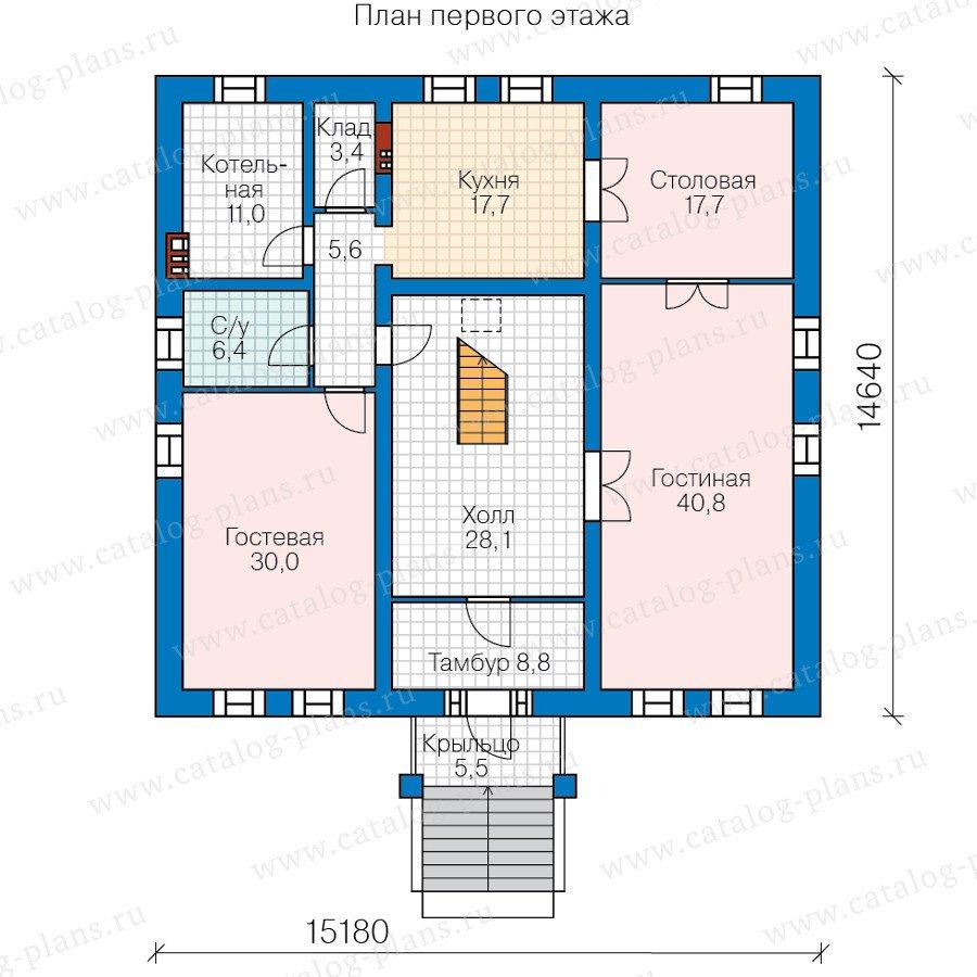 План 2-этажа проекта 40-57L