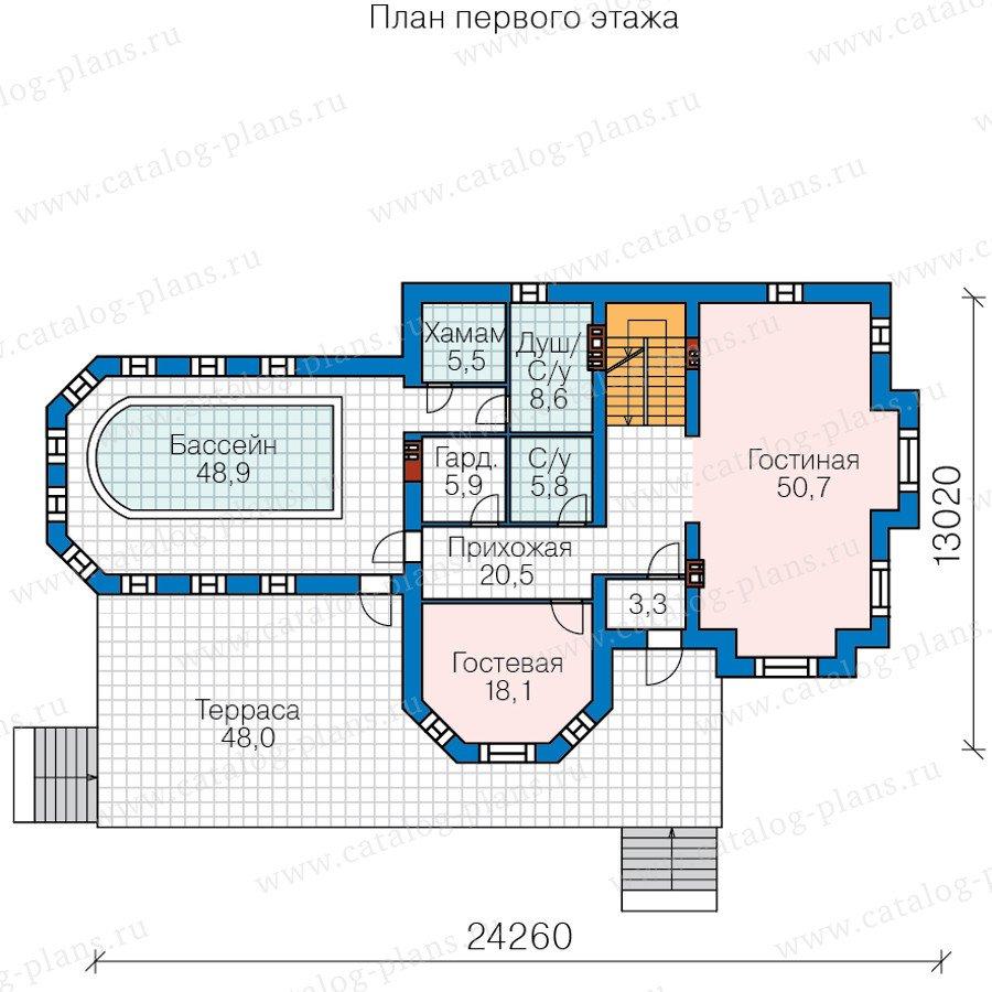 План 2-этажа проекта 40-11P