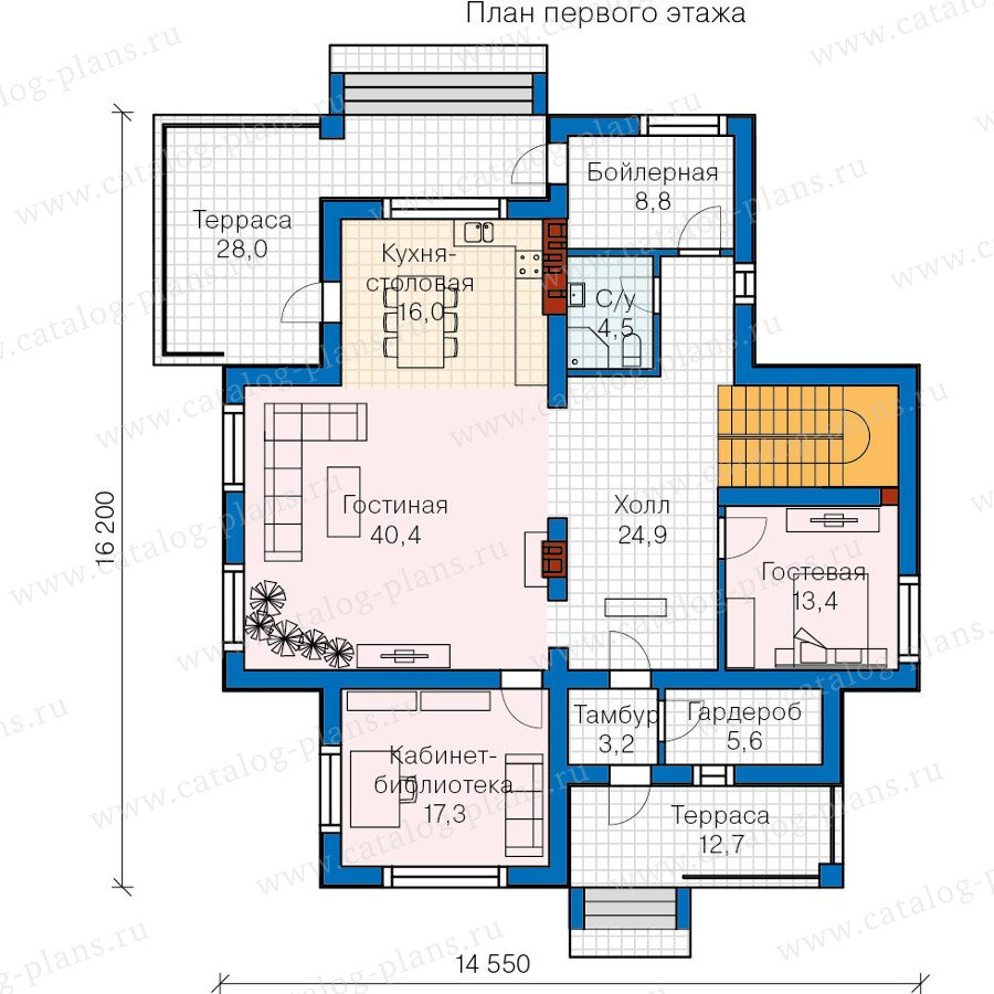 План 1-этажа проекта 57-58