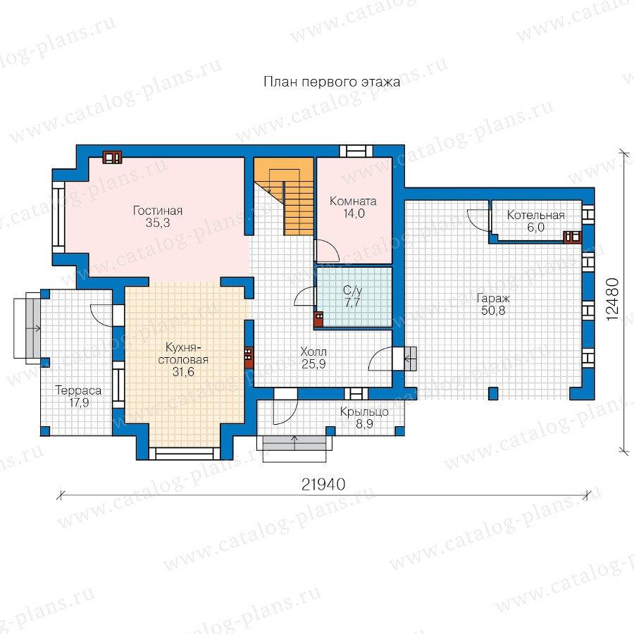План 1-этажа проекта 40-61