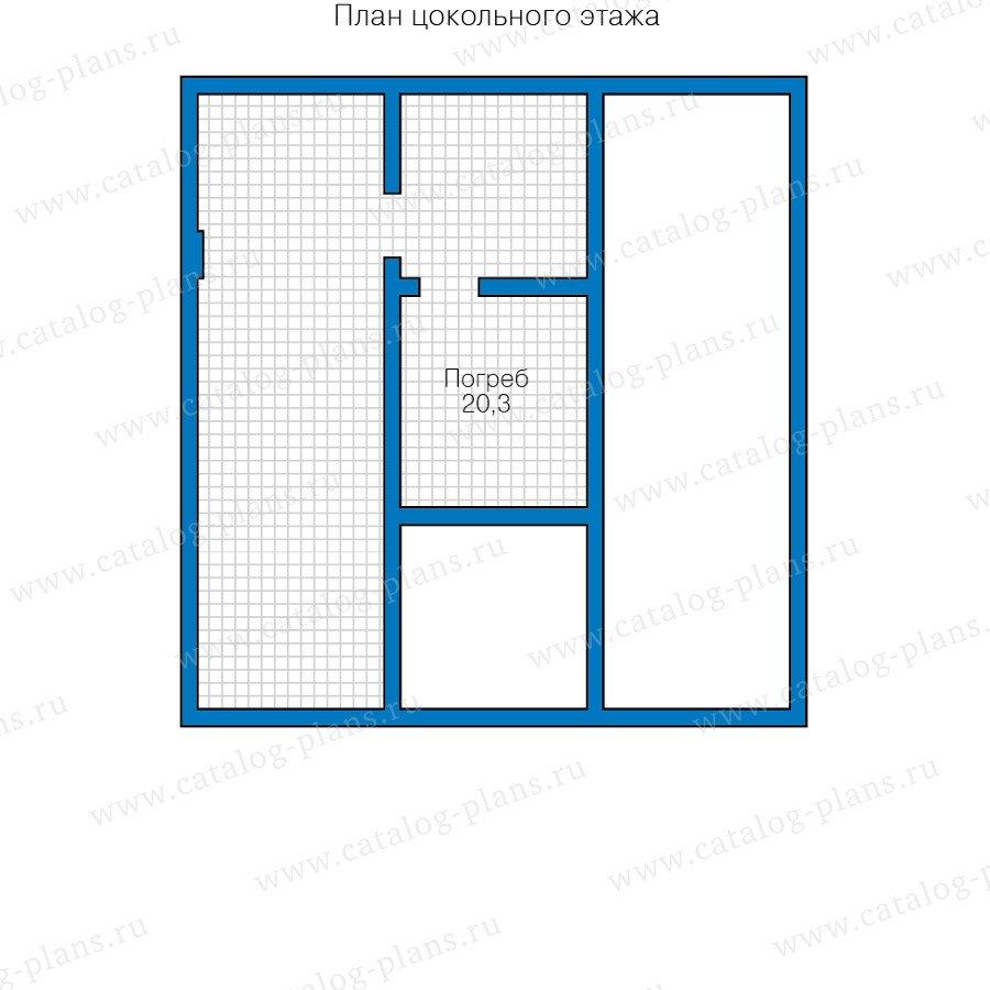 План 1-этажа проекта 40-57L