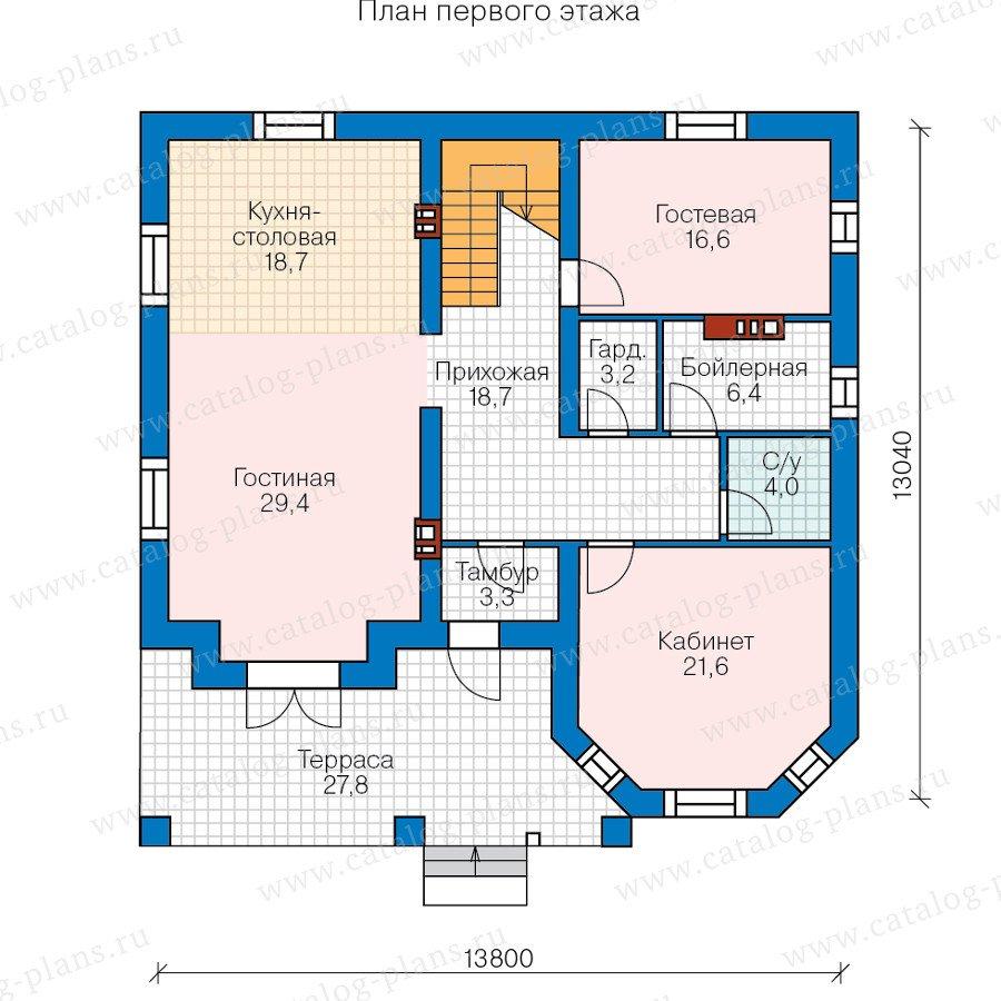 План 1-этажа проекта 40-11BL