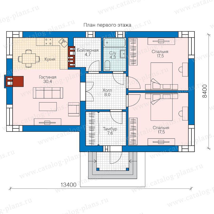 План 1-этажа проекта 58-69
