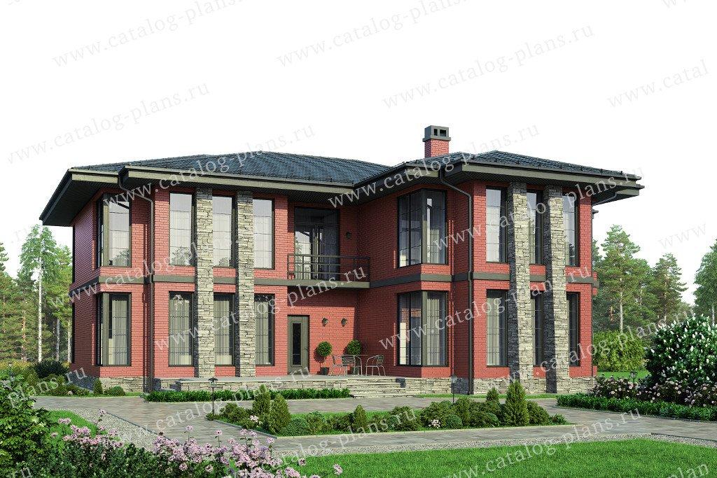 Проект жилой дом #57-99L материал - газобетон, стиль современный