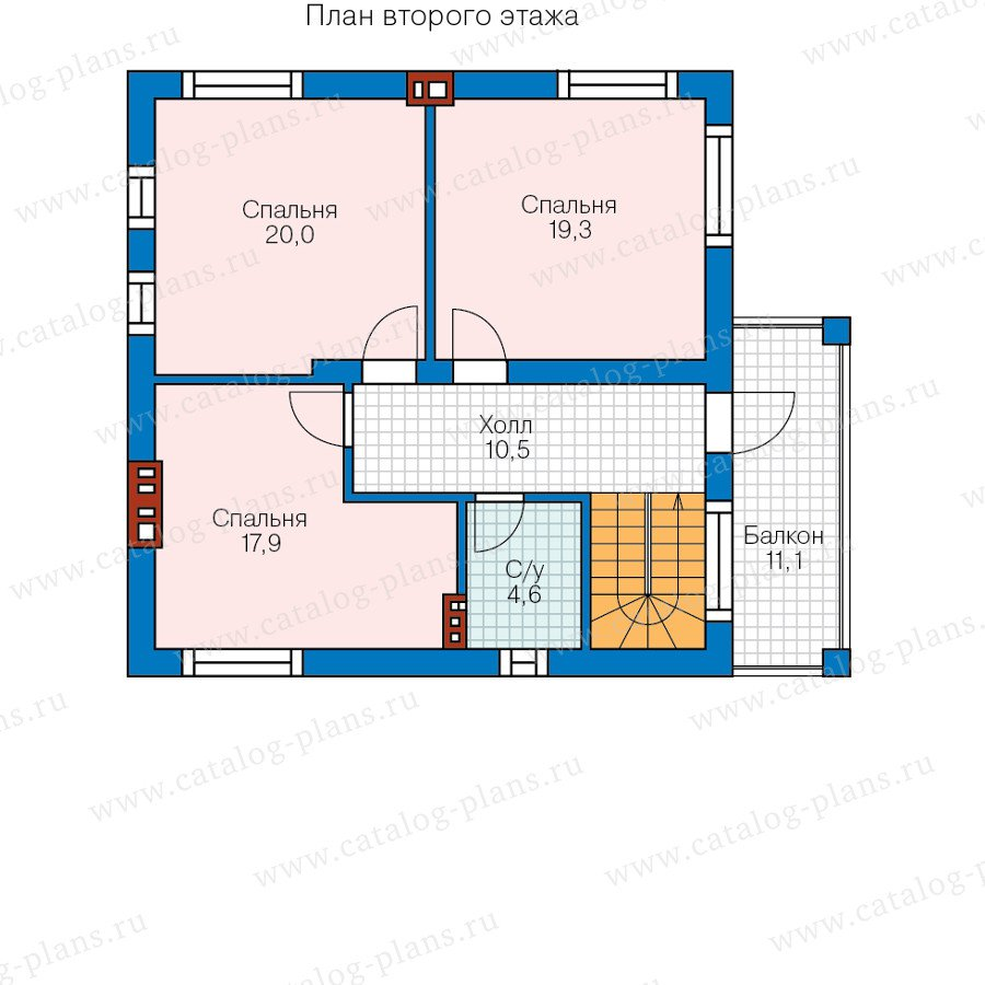 План 2-этажа проекта 57-91L