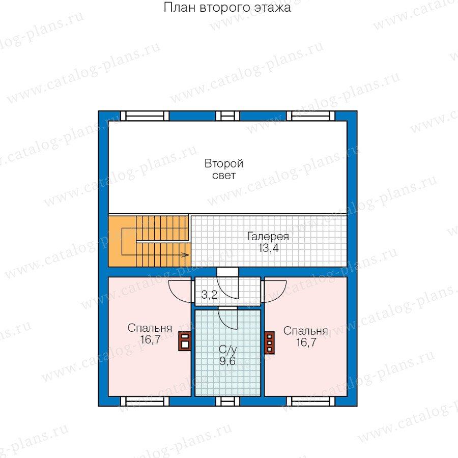 План 2-этажа проекта 57-88L