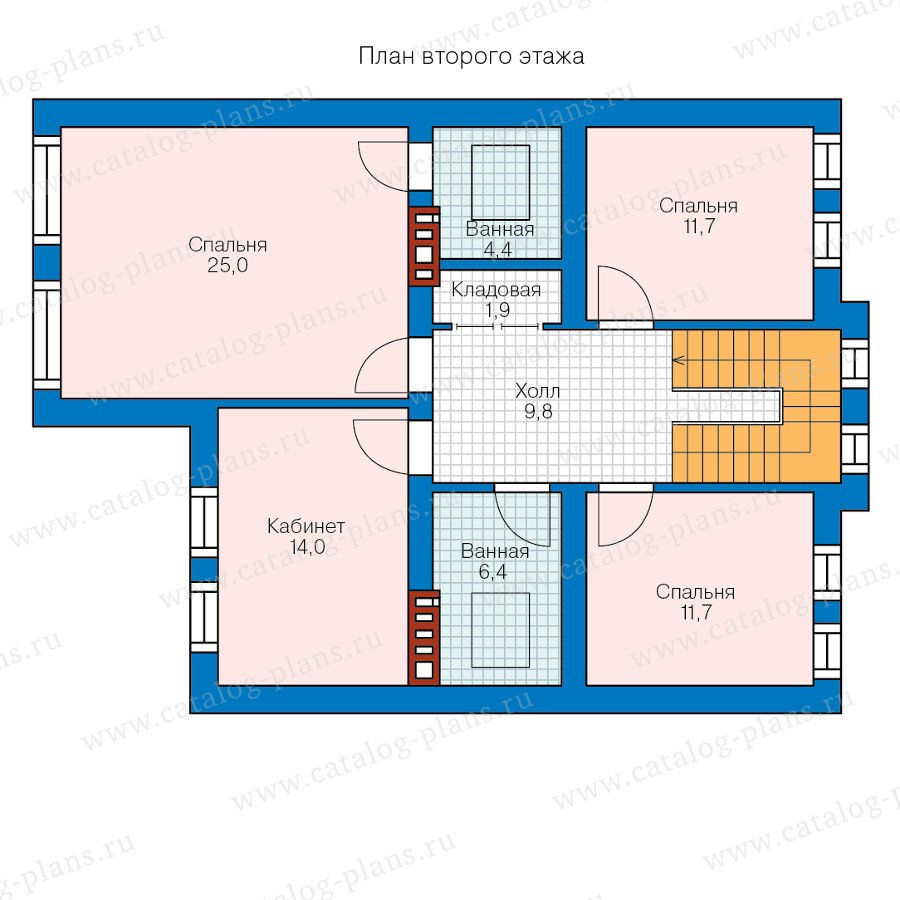 План 2-этажа проекта 57-84L