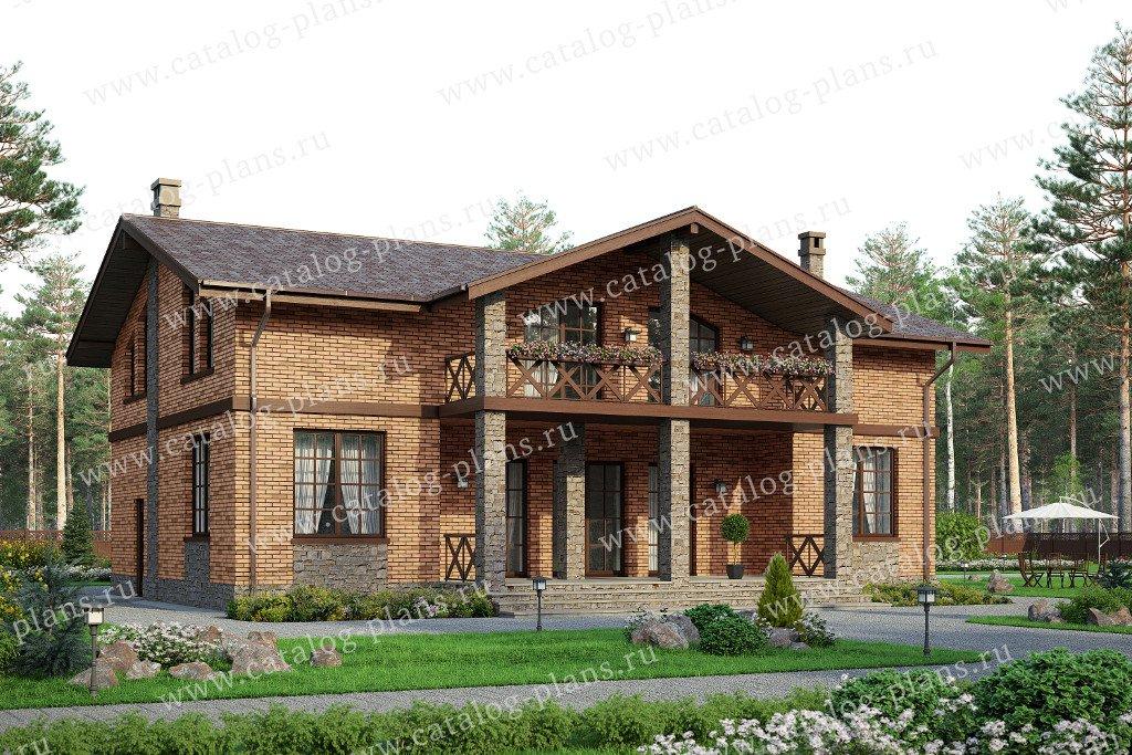 Проект жилой дом #57-80L материал - газобетон, стиль европейский