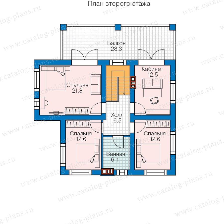 План 2-этажа проекта 57-95L