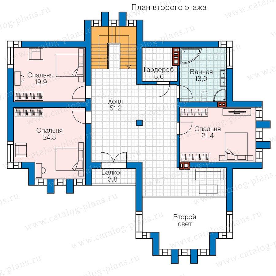 План 2-этажа проекта 57-99L