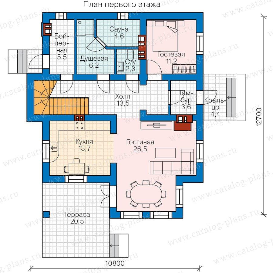 План 1-этажа проекта 58-22L
