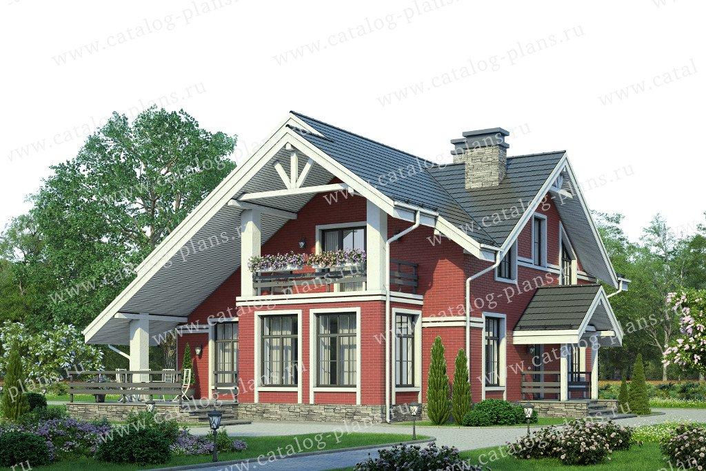 Проект жилой дом #58-22L материал - газобетон, стиль скандинавский