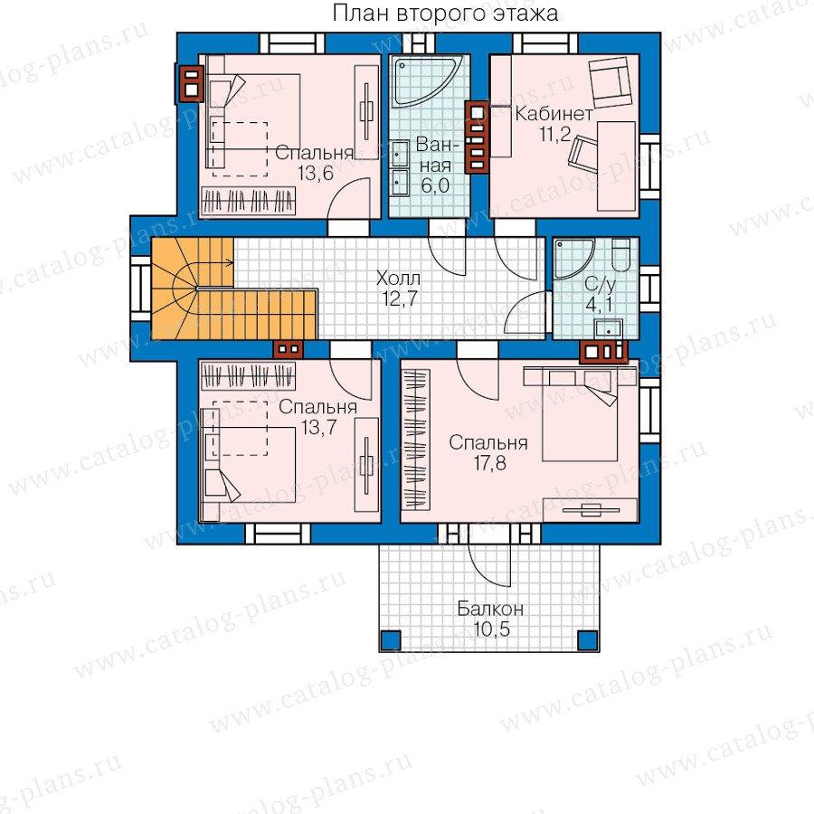 План 2-этажа проекта 58-22L