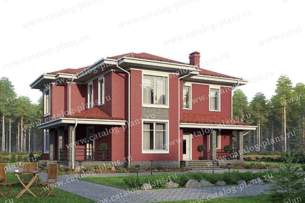 Проект жилой дом #58-07L материал - газобетон, стиль современный