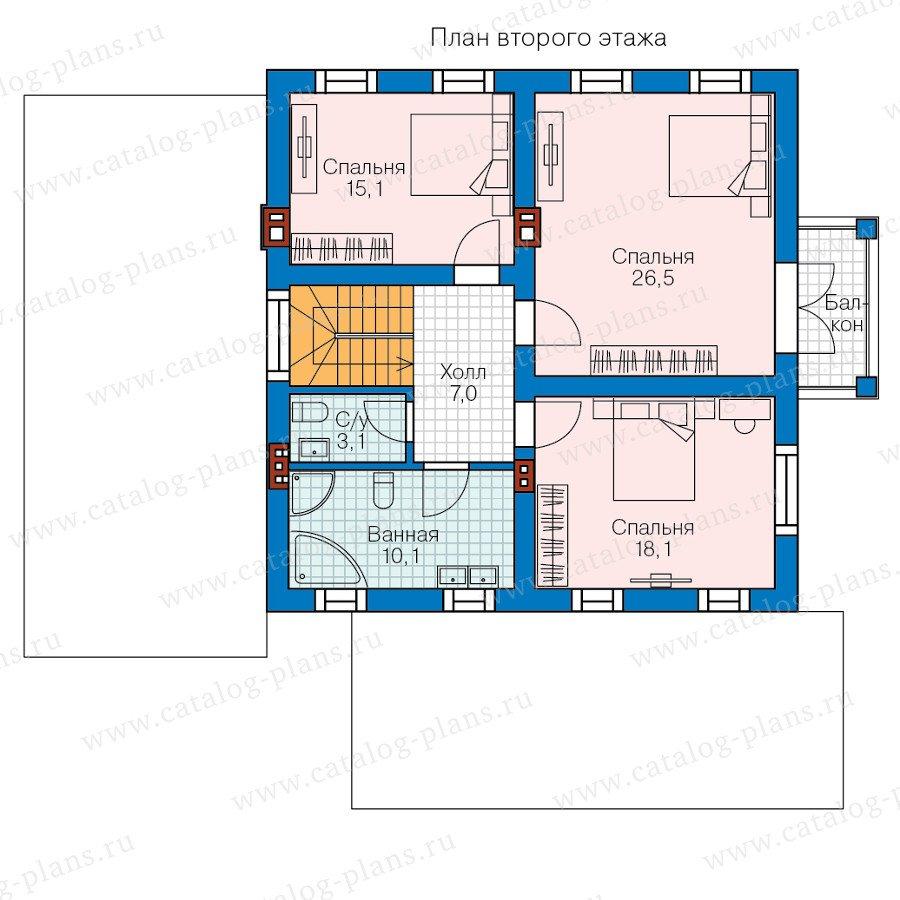 План 2-этажа проекта 58-18L