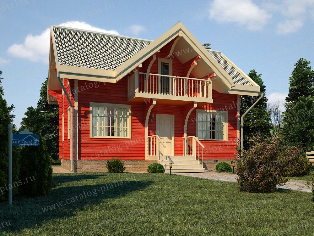 Проект жилой дом #13-13 материал - дерево, стиль скандинавский