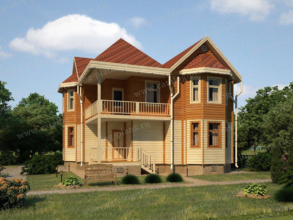 Проект жилой дом #13-16 материал - дерево, стиль европейский
