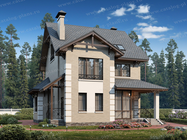 Проект жилой дом #47-07 материал - кирпич, стиль европейский