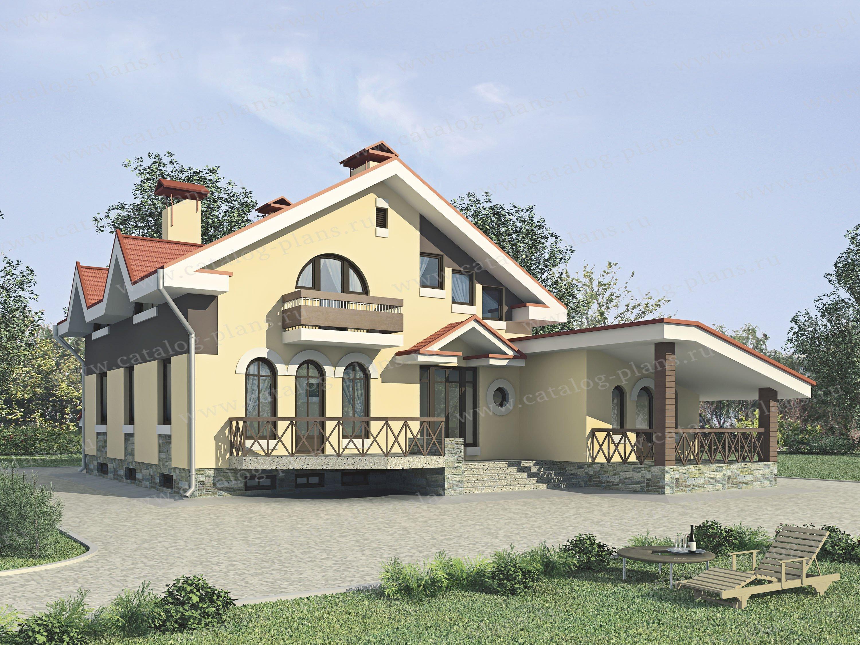 Проект жилой дом #35-34 материал - кирпич, стиль современный