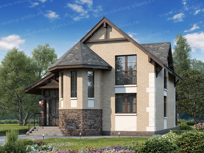 Проект жилой дом #47-24 материал - кирпич, стиль европейский