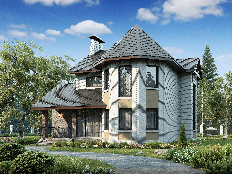 Проект жилой дом #47-23 материал - кирпич, стиль современный