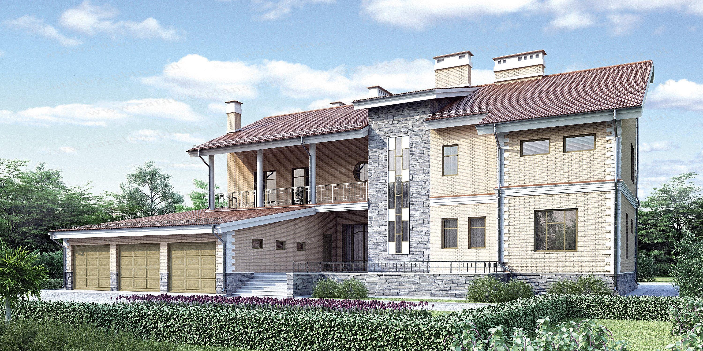 Проект жилой дом #52-04 материал - газобетон, стиль европейский