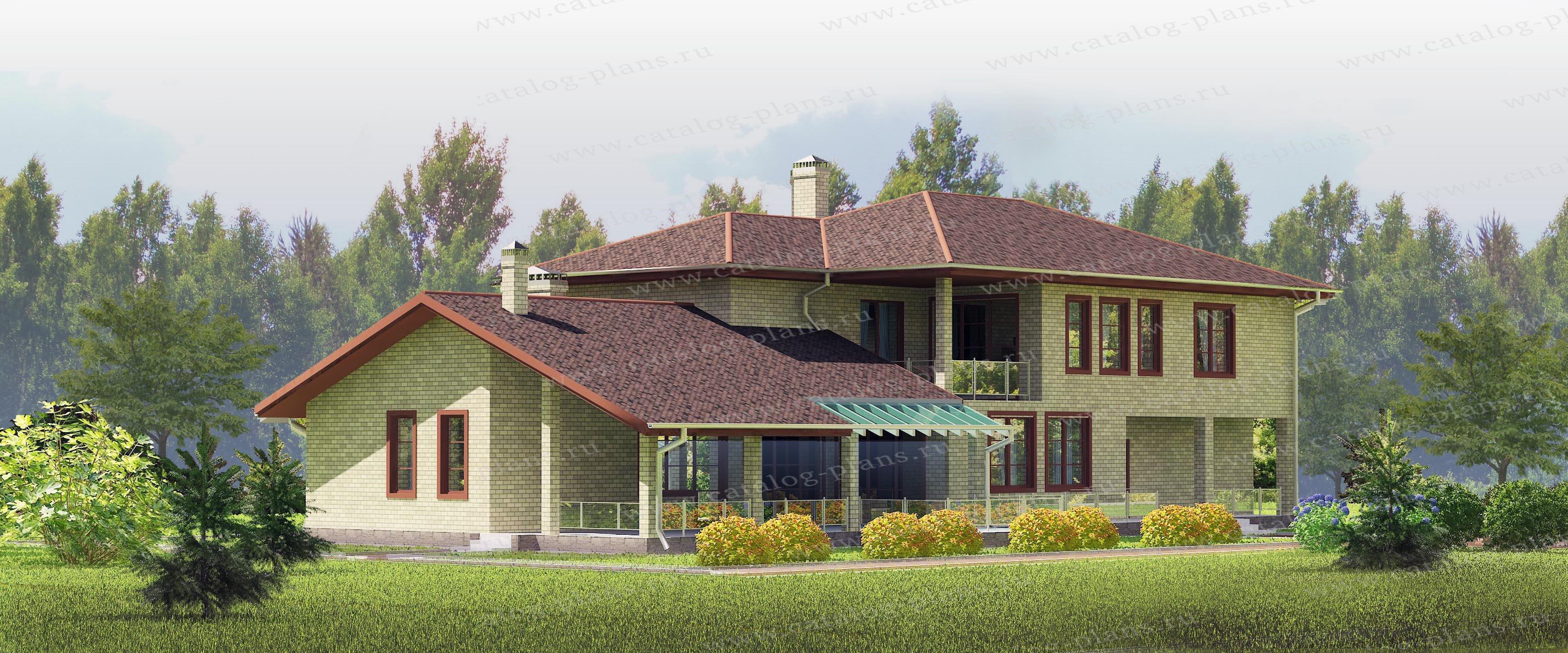 Проект жилой дом #60-59 материал - газобетон, стиль европейский