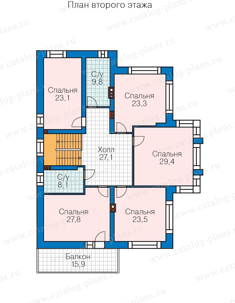 План 2-этажа проекта 40-30G