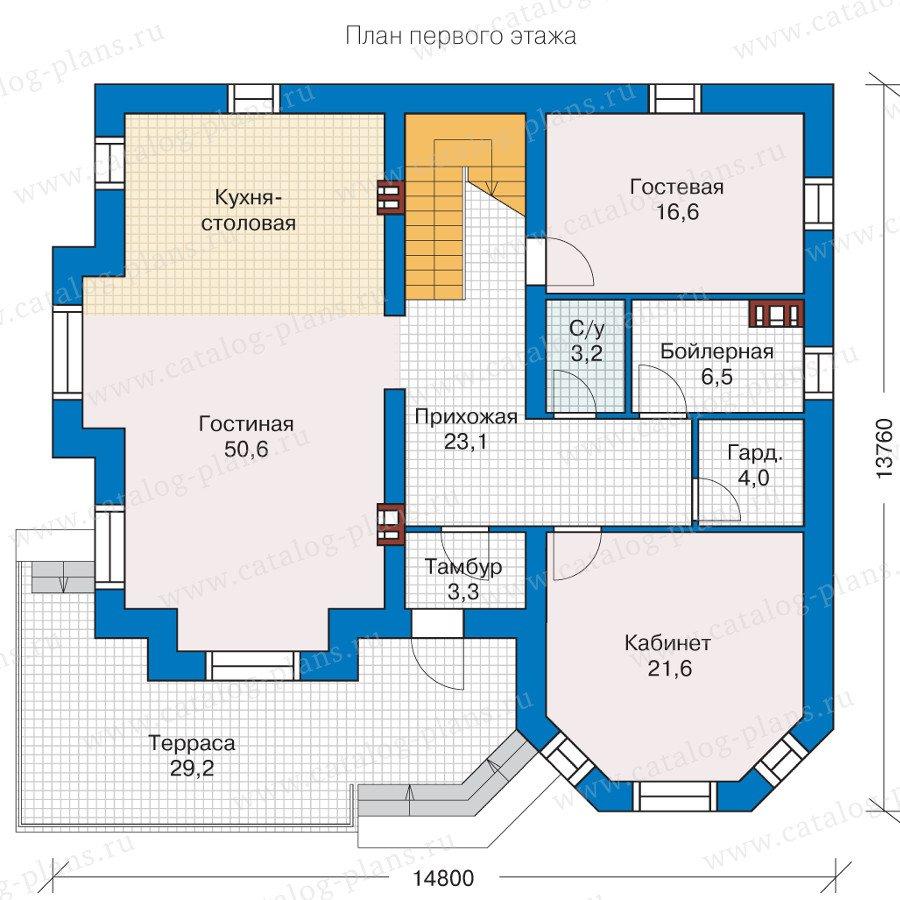 План 1-этажа проекта 40-11KL