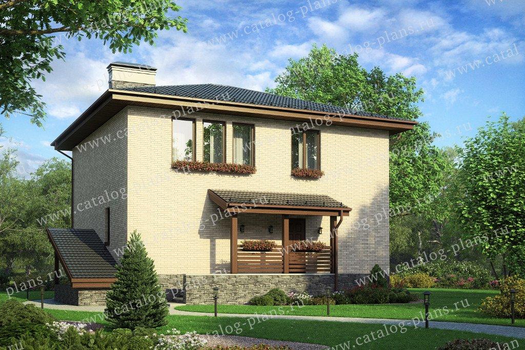 Проект жилой дом #57-11A материал - кирпич, стиль европейский